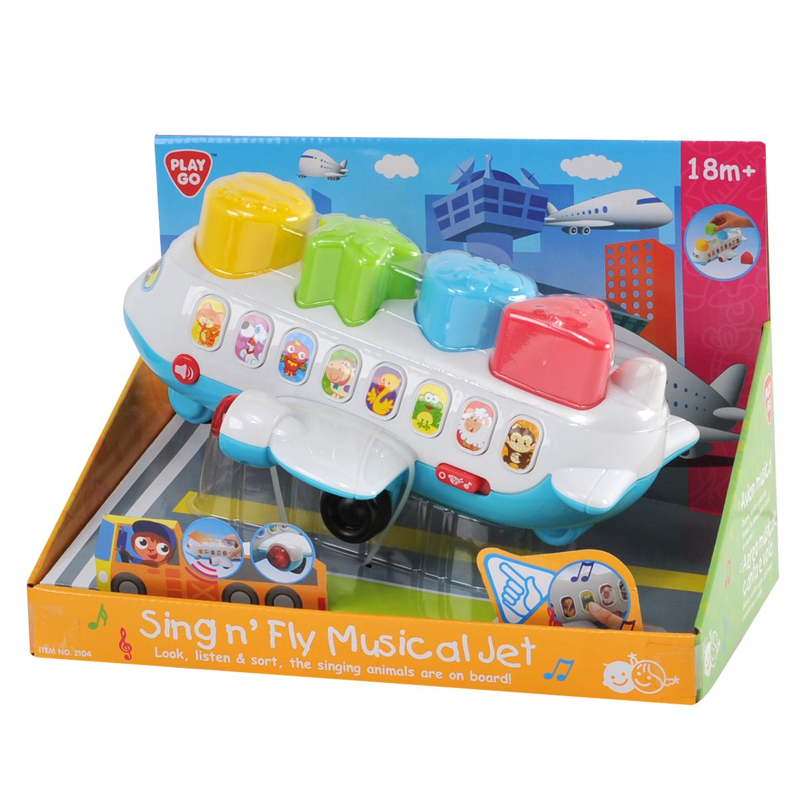PlayGo Sing N Fly Musical Jet Midos Toys Distributor 2104