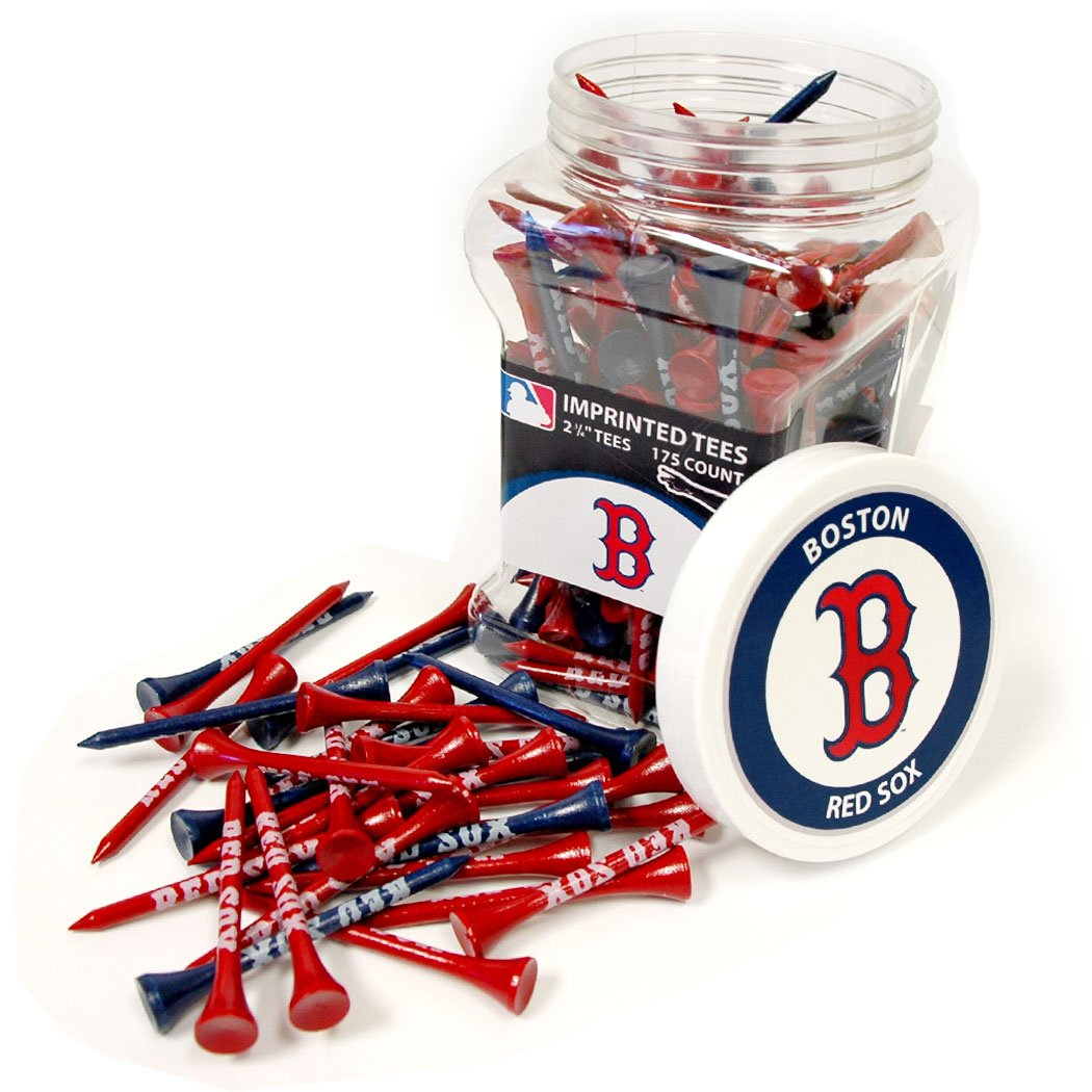 Team Golf MLB Boston Red Sox 2-3/4'' Golf Tees, 175 Pack, Regulation Size, Multi Team Colors