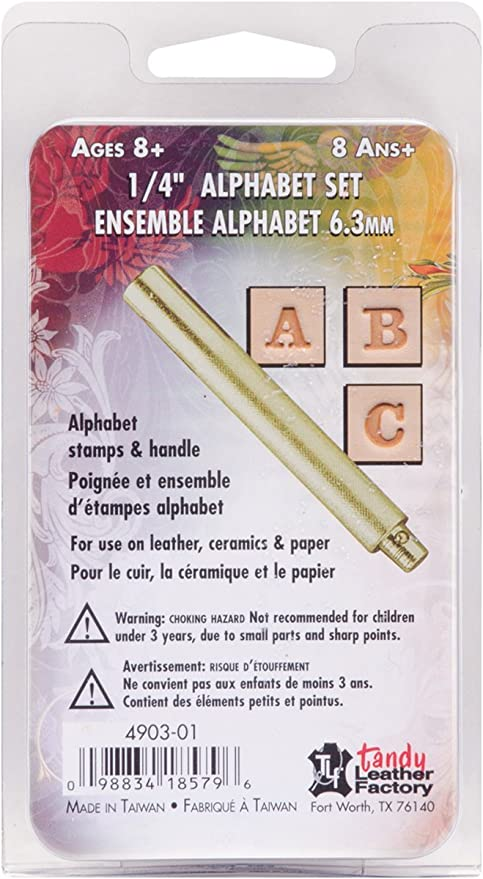"""Alphabet Open Face Stamp Set 1//4/"""" 4909-00 by Craftool"""