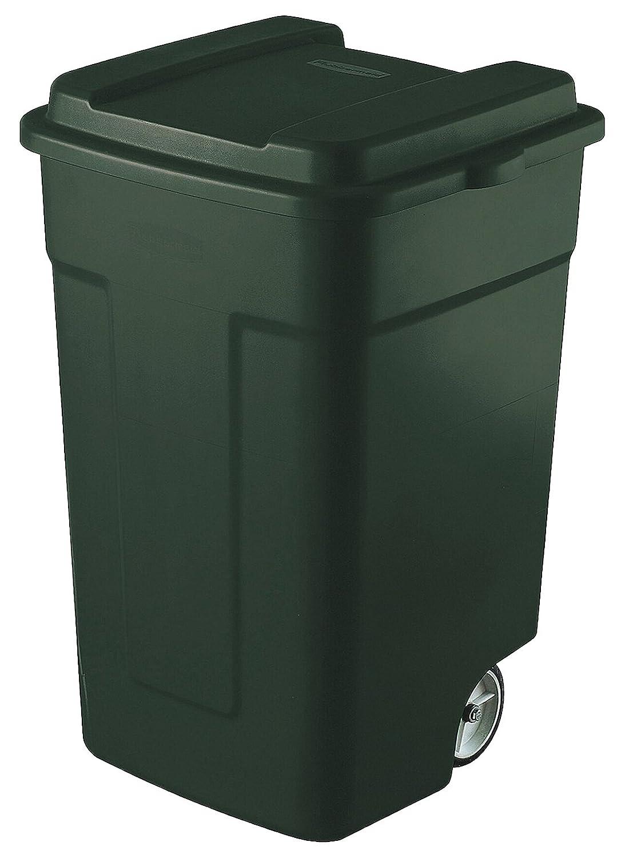 ラバーメイド(Rubbermaid) キャスター付き ゴミ箱 リフューズコンテナ 50ガロン (189L) エバーグリーン FG285100EGRN B000KKMLJS 20186