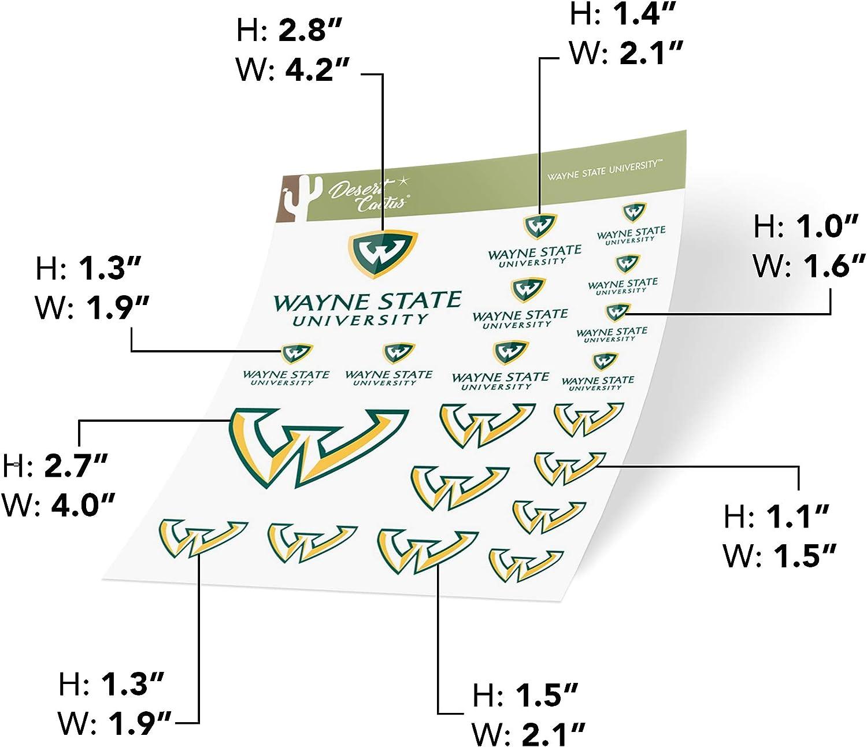 Type 1-1 Sheet Wayne State University WSU Warriors NCAA Sticker Vinyl Decal Laptop Water Bottle Car Scrapbook