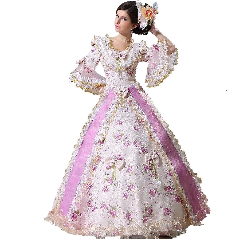 Amazon.com: XNAIHUAFEI Royal Dress Renaissance Antoinette Costume ...