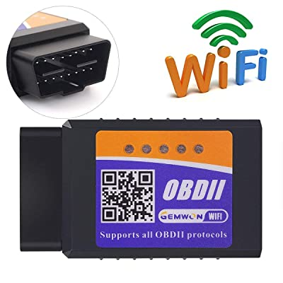 Gemwon OBD2 Wifi Scanner, Car OBDII Code Reader ELM327 Wireless Adapter, Auto Diagnostic Scan Tool for Vehicles Engine Datail Checking (Fits for iOS and Android Phone): Automotive