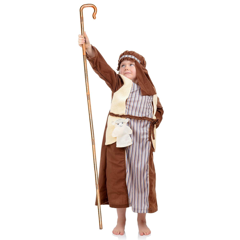 Amazon.com: Disfraz de esqueleto de pastor de bastón de ...