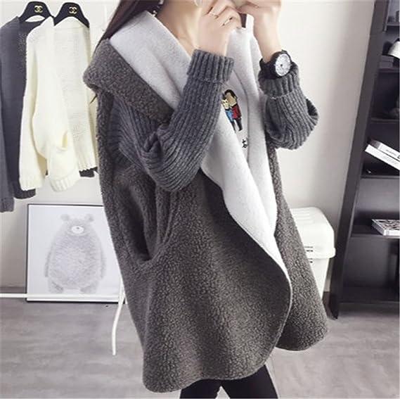 Amazon.com: Gome-z Chic Autumn Winter Cardigan Lambs Wool ...