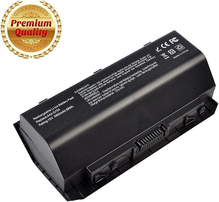 LIKEGOR A42-G750 Laptop Battery for Asus(ROG) A42-G750 G750J G750JW G750JX G750JZ G750JH G750JM G750JS G750Y47JX-BL Series [8 Cell 15V 5900mAh/88Wh]-12 Months Warranty