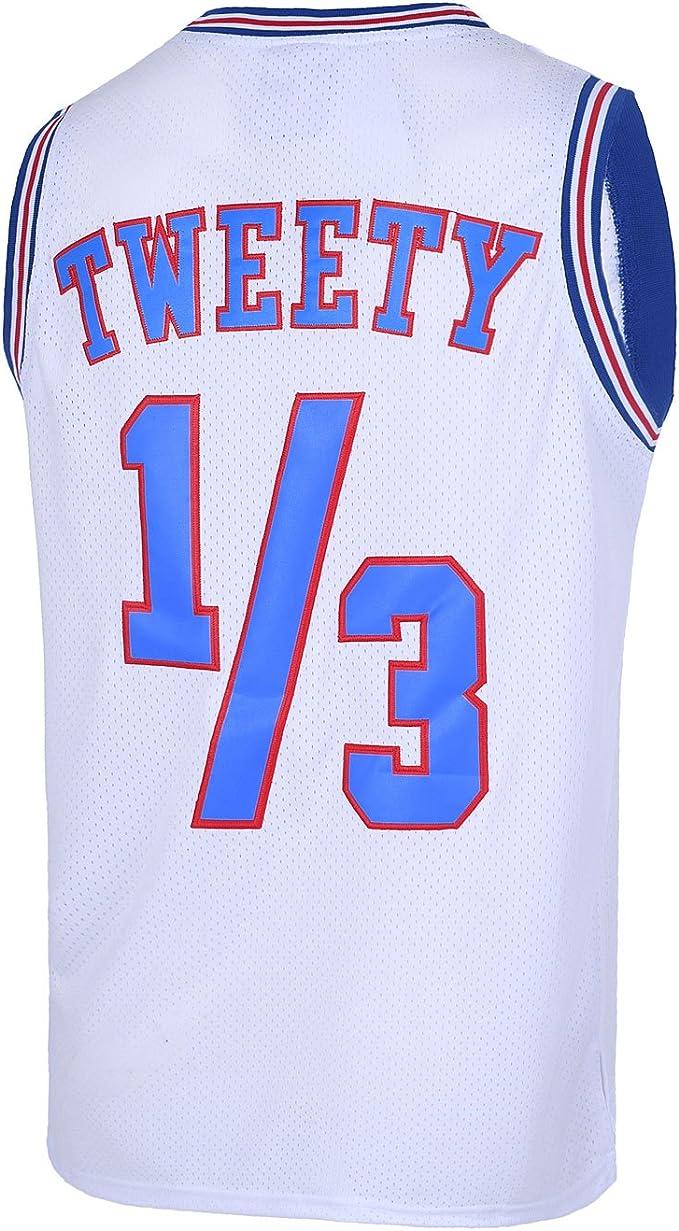 Amazon.com: Camiseta de baloncesto para jóvenes 1/3 Tweety ...