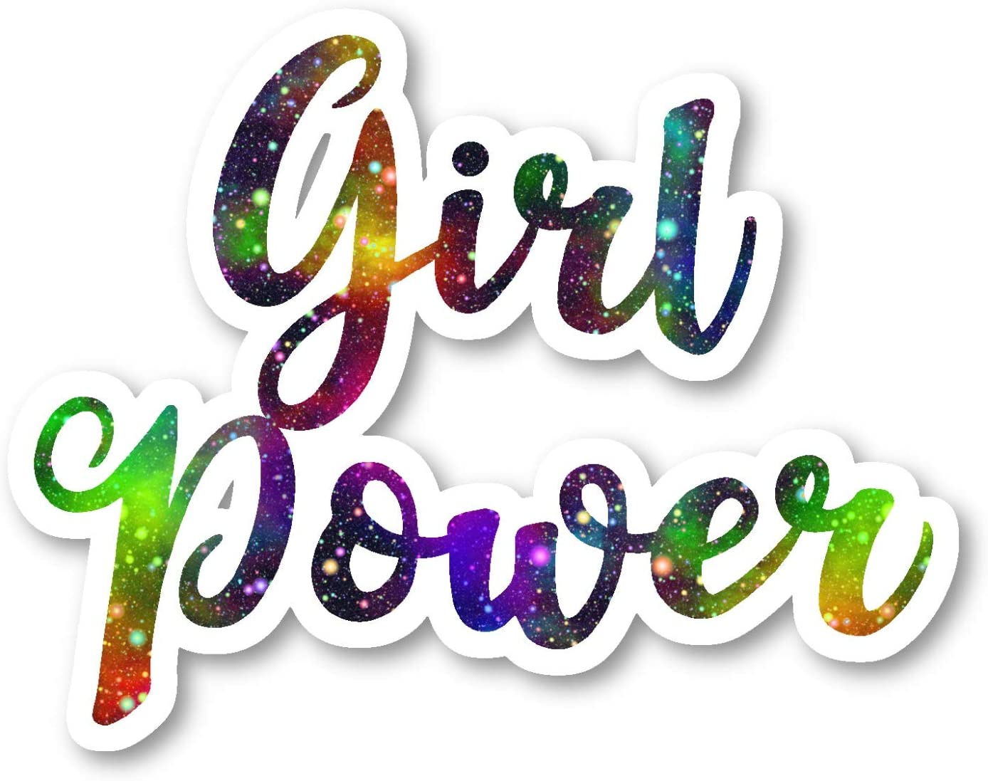 Girl Power Sticker Galaxy Inspirational Quotes Stickers - 2 Pack - Laptop Stickers - 2.5 Inches Vinyl Decal - Laptop, Phone, Tablet Vinyl Decal Sticker (2 Pack) S214615