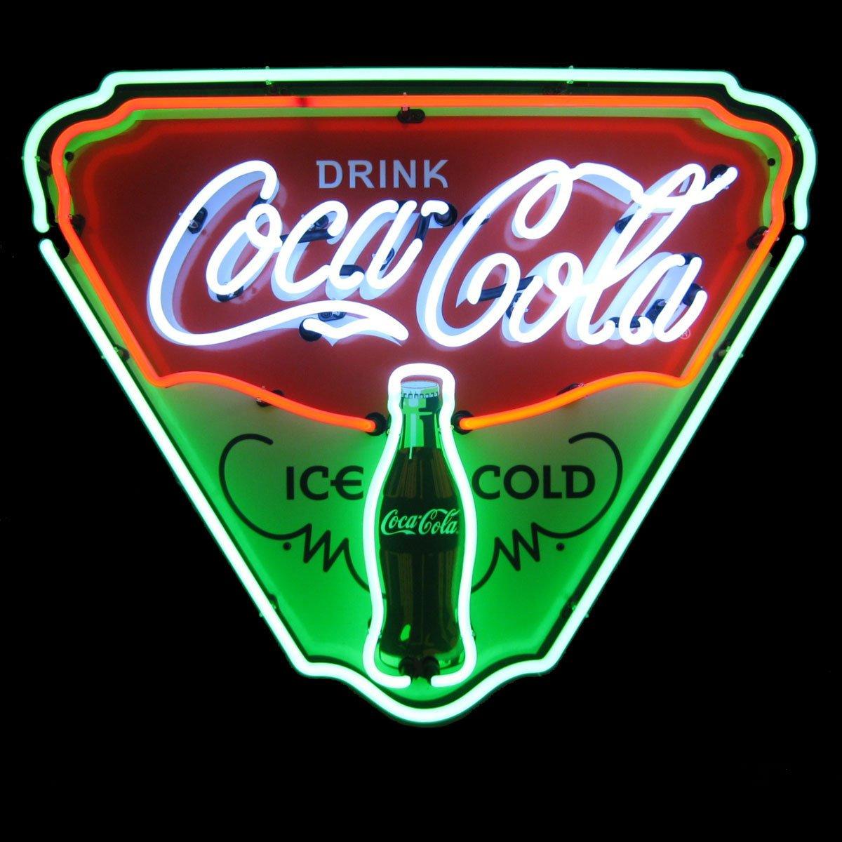 Coca Cola Ice Cold Shield Neon Sign