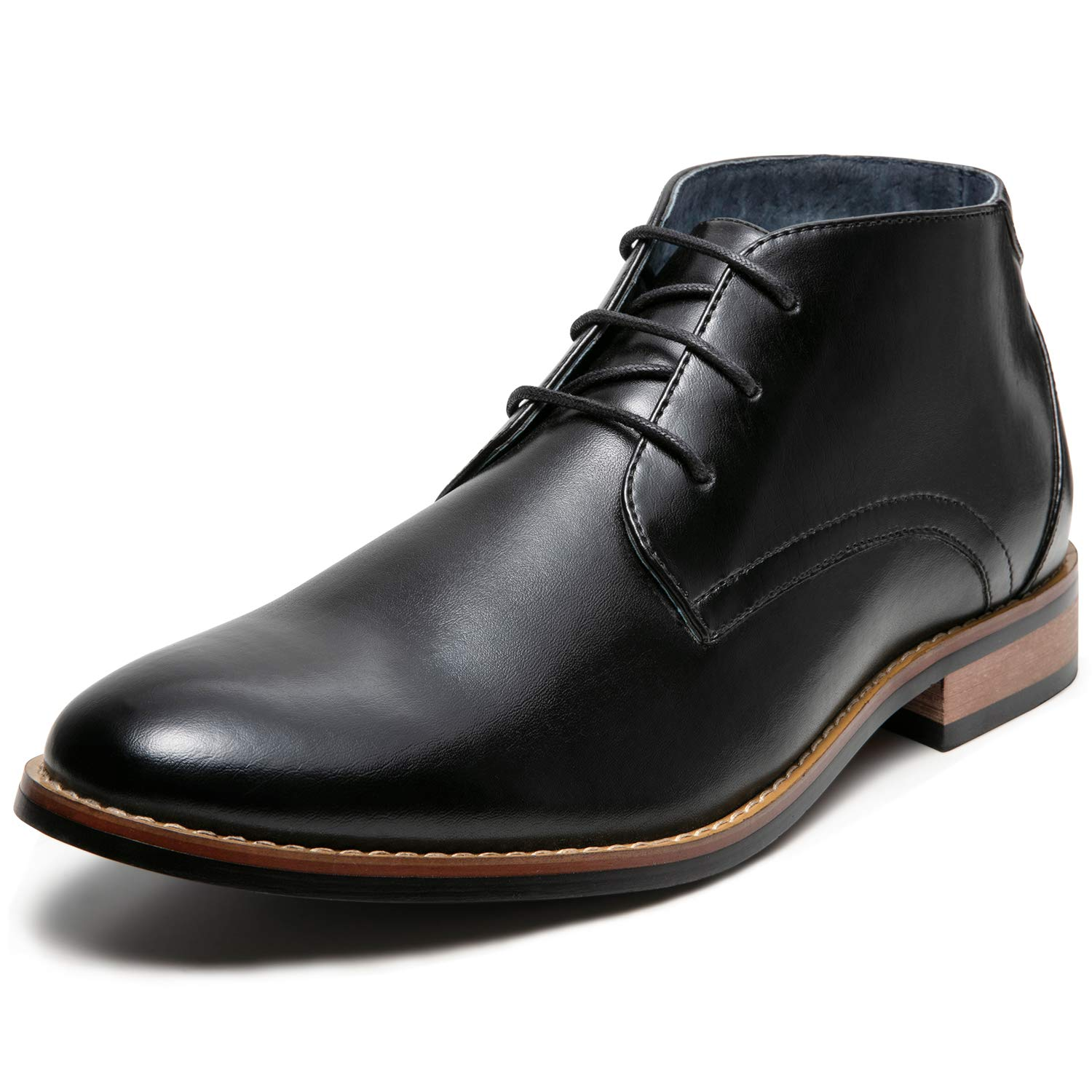 60s Mens Shoes | 70s Mens shoes – Platforms, Boots ZRIANG Mens Oxford Dress Leather Lined Round Toe Angle Boots $25.99 AT vintagedancer.com