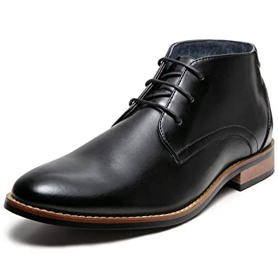 Amazon Mens Oxford Dress Leather Lined Cap Toe Angle Boots