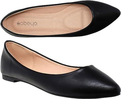 Women Ballet Flats Pointed Toe Slip