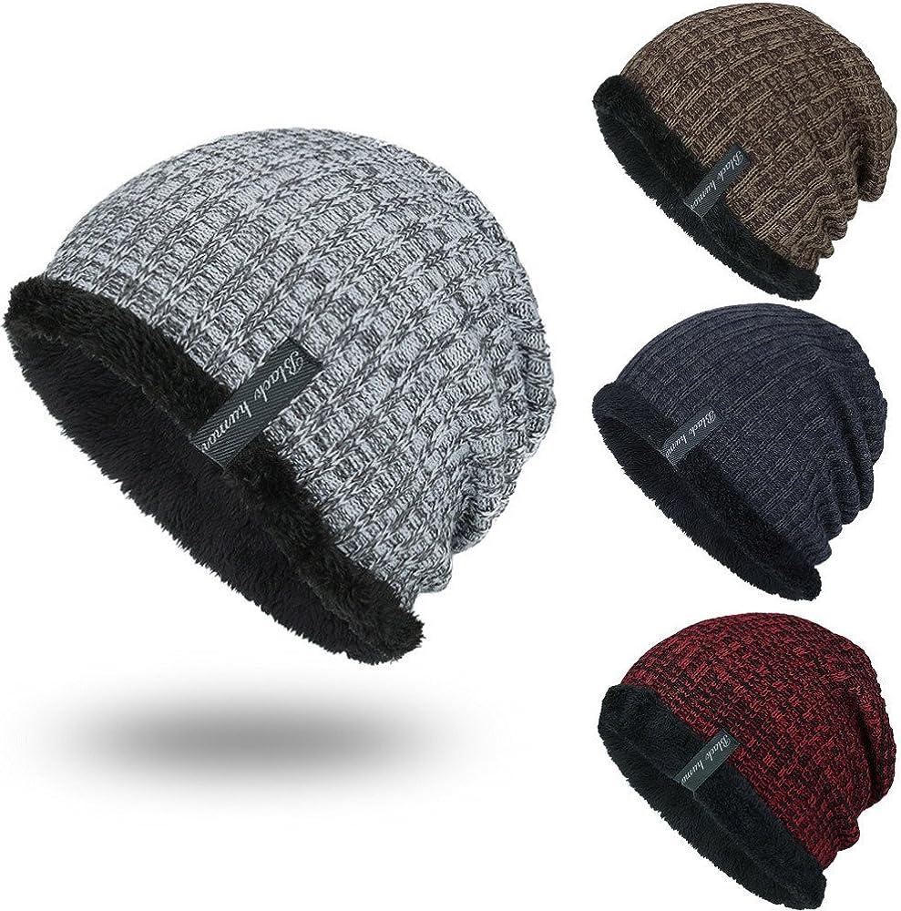 WUDUBE 2019 Nuovo Uomo Donna Cappellino per Cappello Invernale Caldo alla Moda con Cappuccio e Cappello