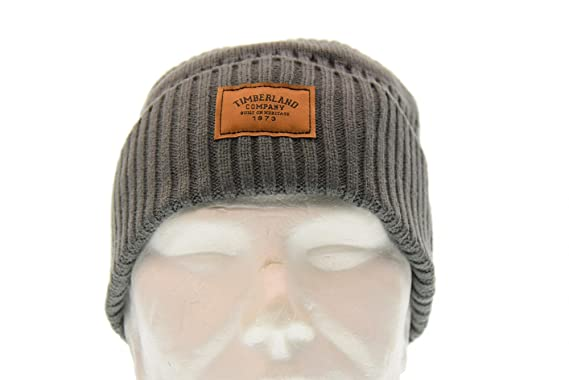 2b07e935121 Timberland Hats Gulf Beach Ribbed Beanie Hat - Grey 1-Size  Amazon ...