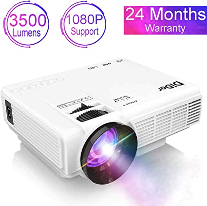 DIDAR Proyector 3500 Lumen Mini Video Proyector Soporta 1080P Full ...