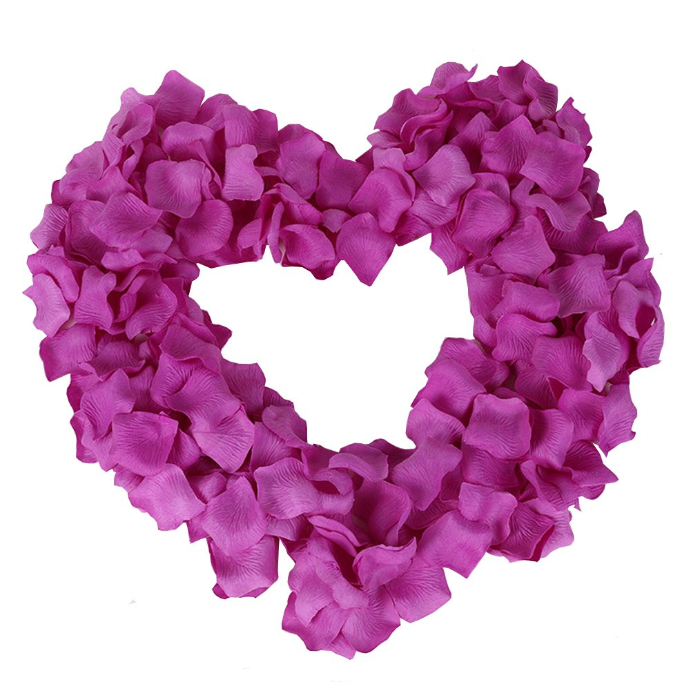 Colorfulife Simulation Rose Petals 1200pcs Artificial Silk Rose Petal Flower Bridal for Wedding Party Valentine Supplies Room Decoration Centerpieces Confetti 21# Peach Red