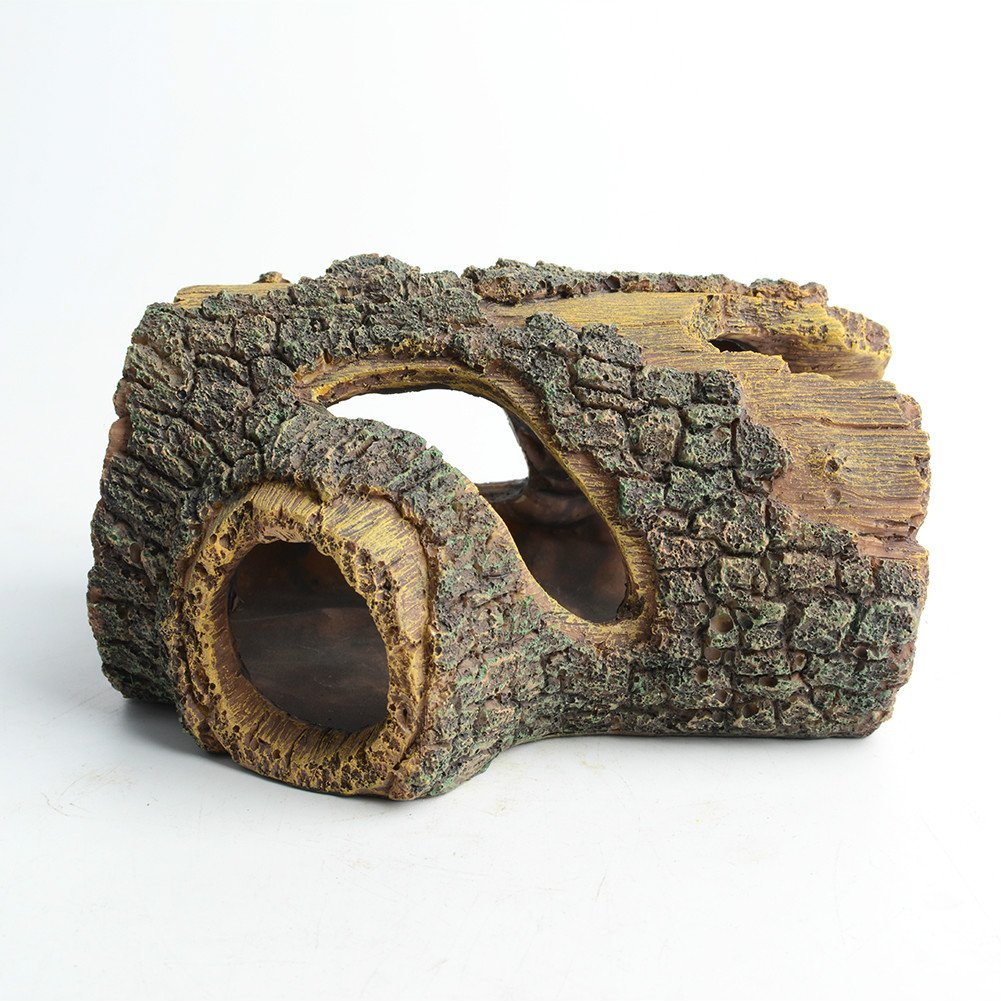 Hygger Betta Log Resin Hollow Tree Trunk