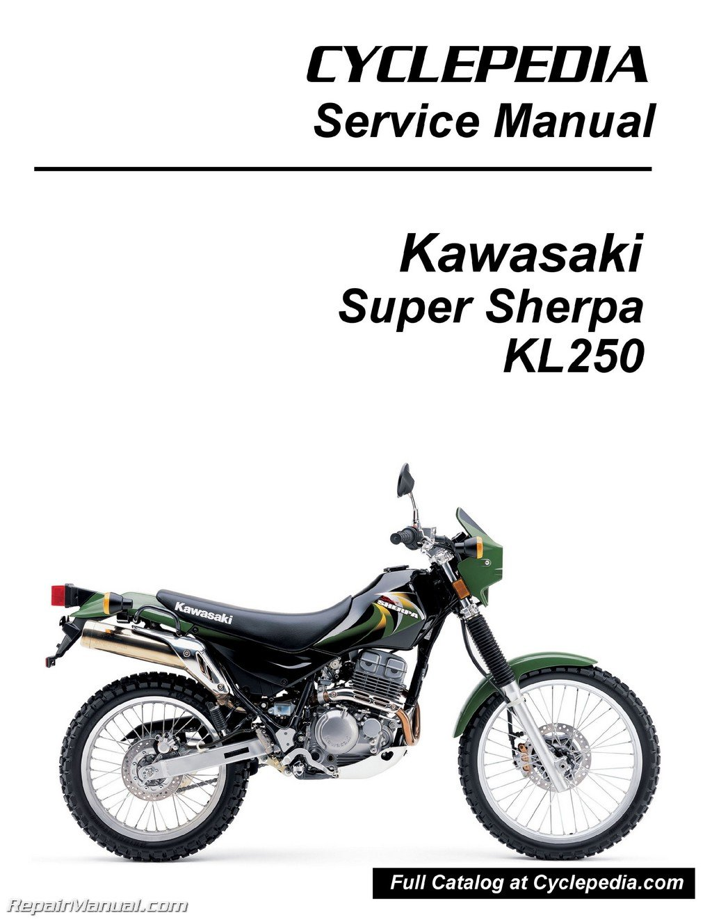 Kawasaki Super Sherpa Wiring Diagram List Of Schematic Circuit Mad Dog Scooter Cpp 188 P Kl250 Motorcycle Service Manual Rh Amazon Com