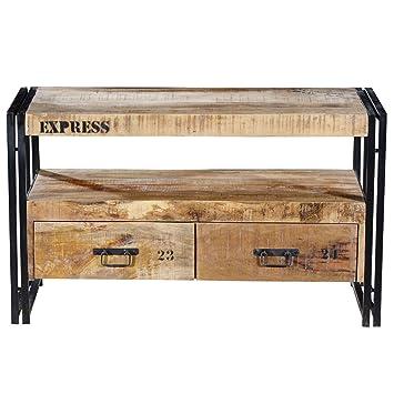 Vintage Industrie Loft Style TV Lowboard IOWA mit 2 Schubladen | TV ...