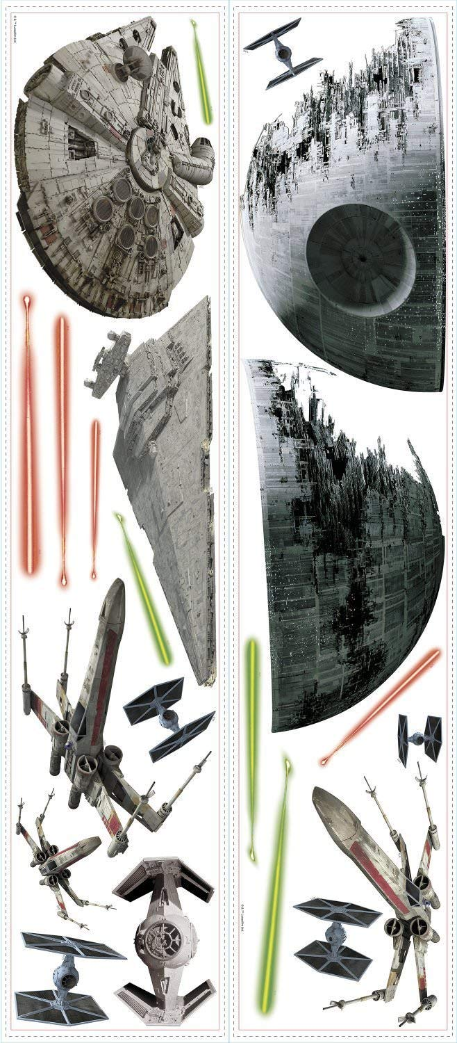 RoomMates Star Wars Classic Spaceships Peel and Stick Wall Decals by RoomMates (Image #2)