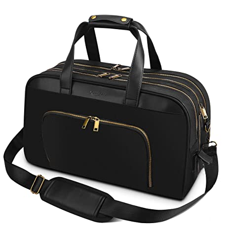 Bolsa de Viaje 43 x 20.5 x 27 cm Tamaño Maleta de Mano 35L Equipaje de Mano Ryanair (Negro)