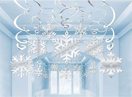 Amazon.com: Adornos de Navidad con forma de copo de nieve ...