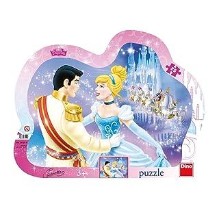 Dino Giocattoli 311299di Alta qualità da scrivania Jigsaws Puzzle con Cornice Principesse Disney,