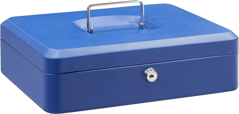 ARREGUI C9245 Elegant Caisse /à Monnaie en Acier 30 cm de Longueur avec Plateau Multifonction Bleu