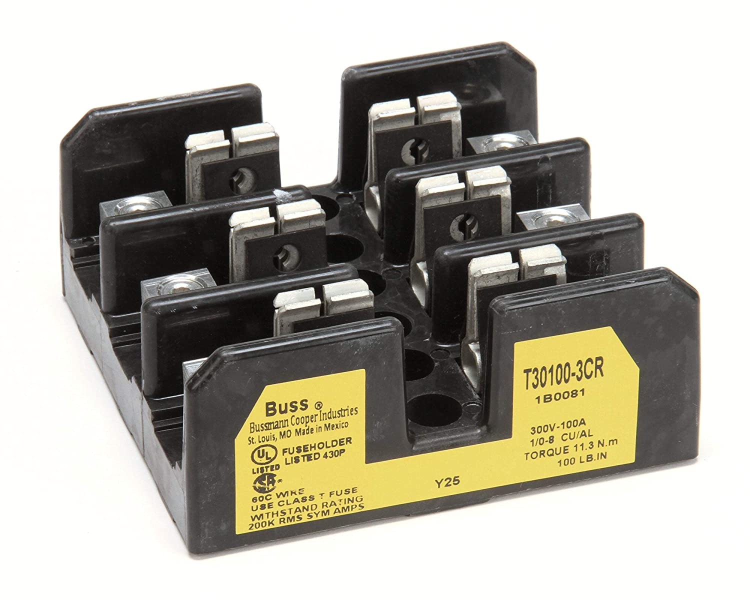 Champion - Moyer Diebel 108424 Fuse Block 600V/100A 3P T Type 711WeweeggL._SL1500_