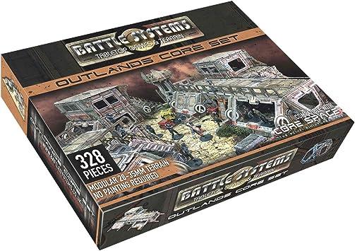 Battle Systems - BSTSFC003 - Outlands Core Set - Terreno de juego en miniatura de sobremesa de ciencia ficción