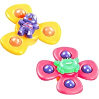 ZOYLINK 3PCS Children Spinner Toys Funny Cute Suction Cup Spinning Top Toy Early Learner Toys Interesting Bath Toys