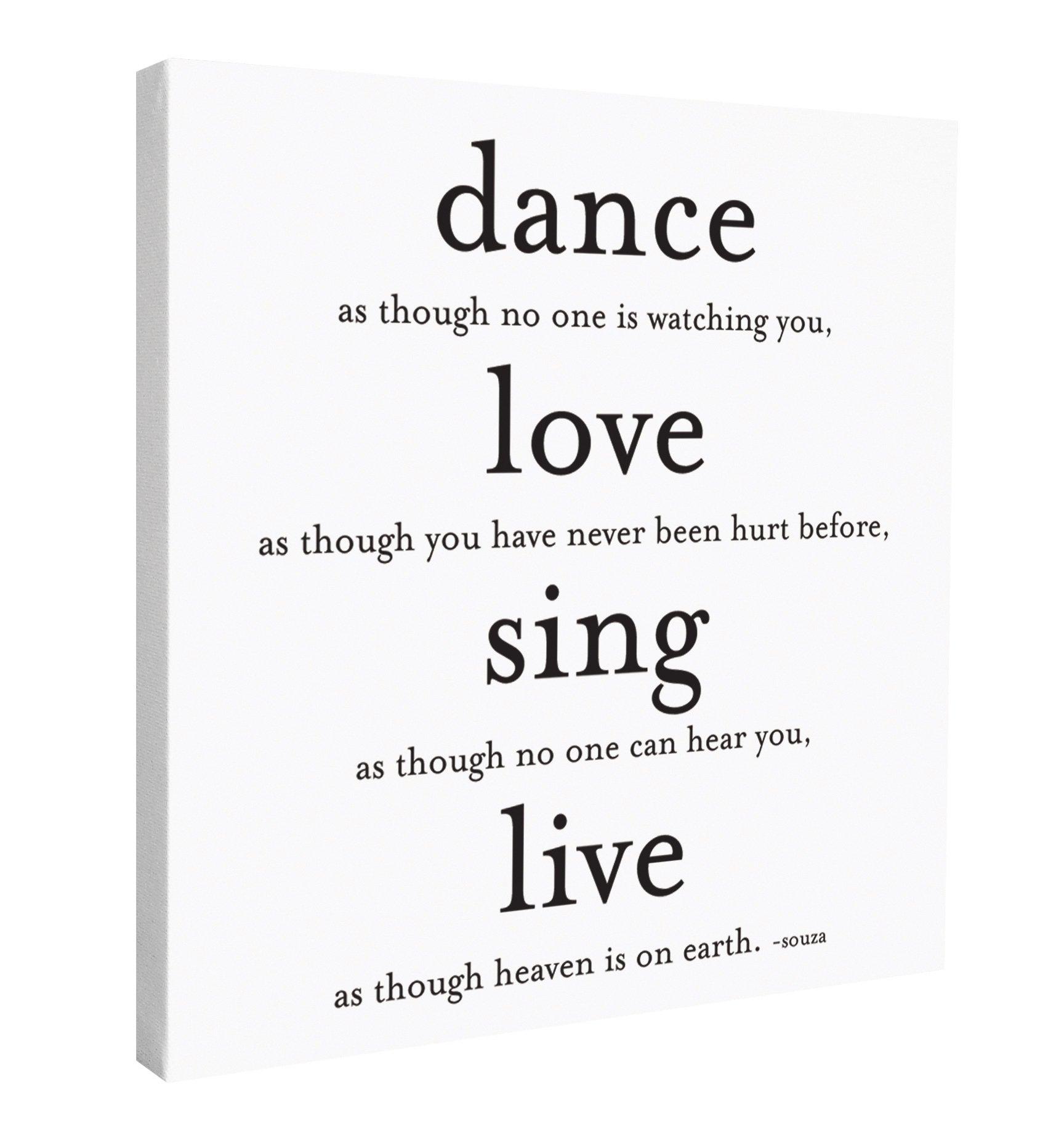 Quotable Canvas- ''Dance, Love, Sing''