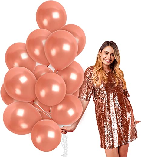 Rose Gold Foil//Latex Balloons Birthday Wedding Hen Party Engagement Party Decor