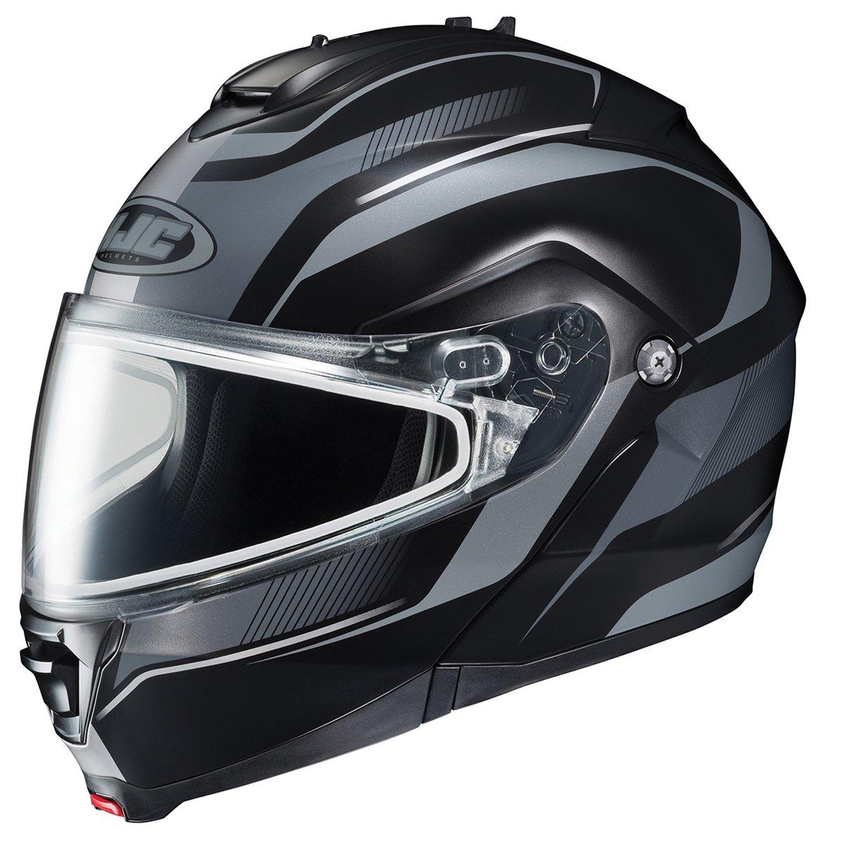 HJC IS-MAX2SN Style Modular Snow Helmet Frameless Dual Lens Shield (MC-5F Black/Silver, XX-Large)