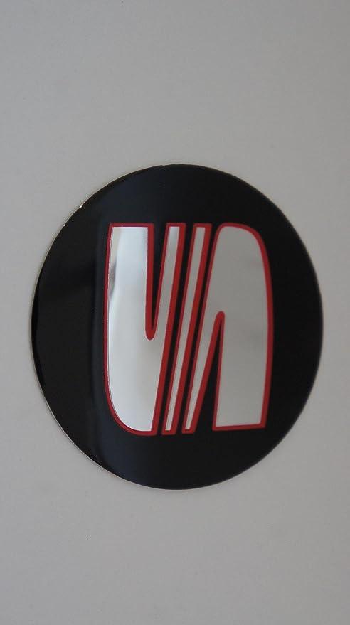 Juego de 4 pegatinas tapacubos para el coche con el logotipo de Seat, 90 mm