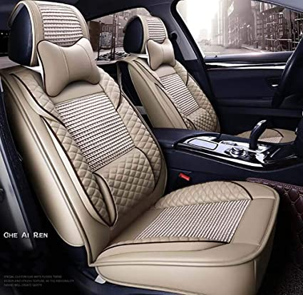 Sensational Amazon Com Oofa Car Seat Covers Leather Icy Silk Soft Andrewgaddart Wooden Chair Designs For Living Room Andrewgaddartcom