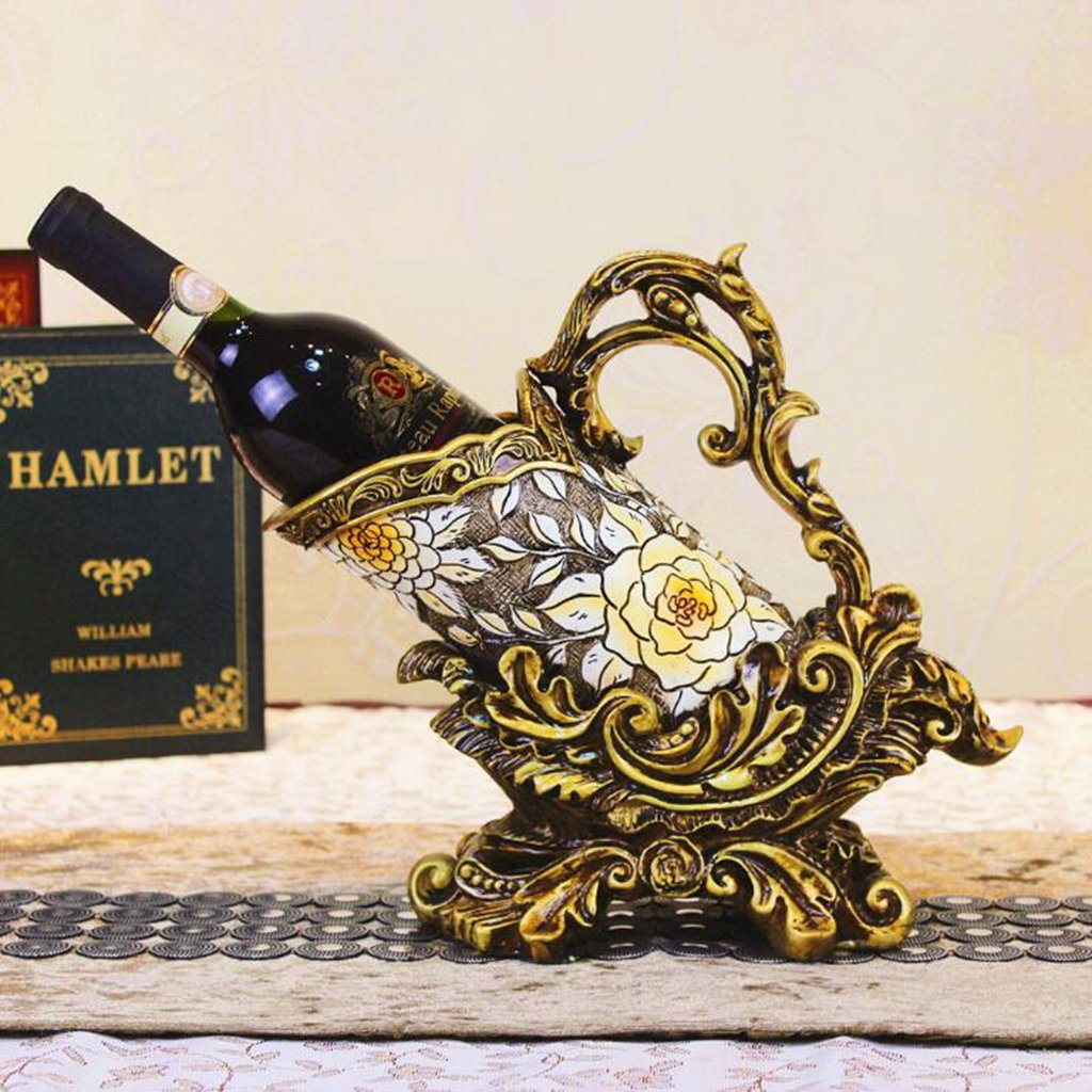 Jingzou European new creative red wine rack hotel decorations winery furnishings style291427cm