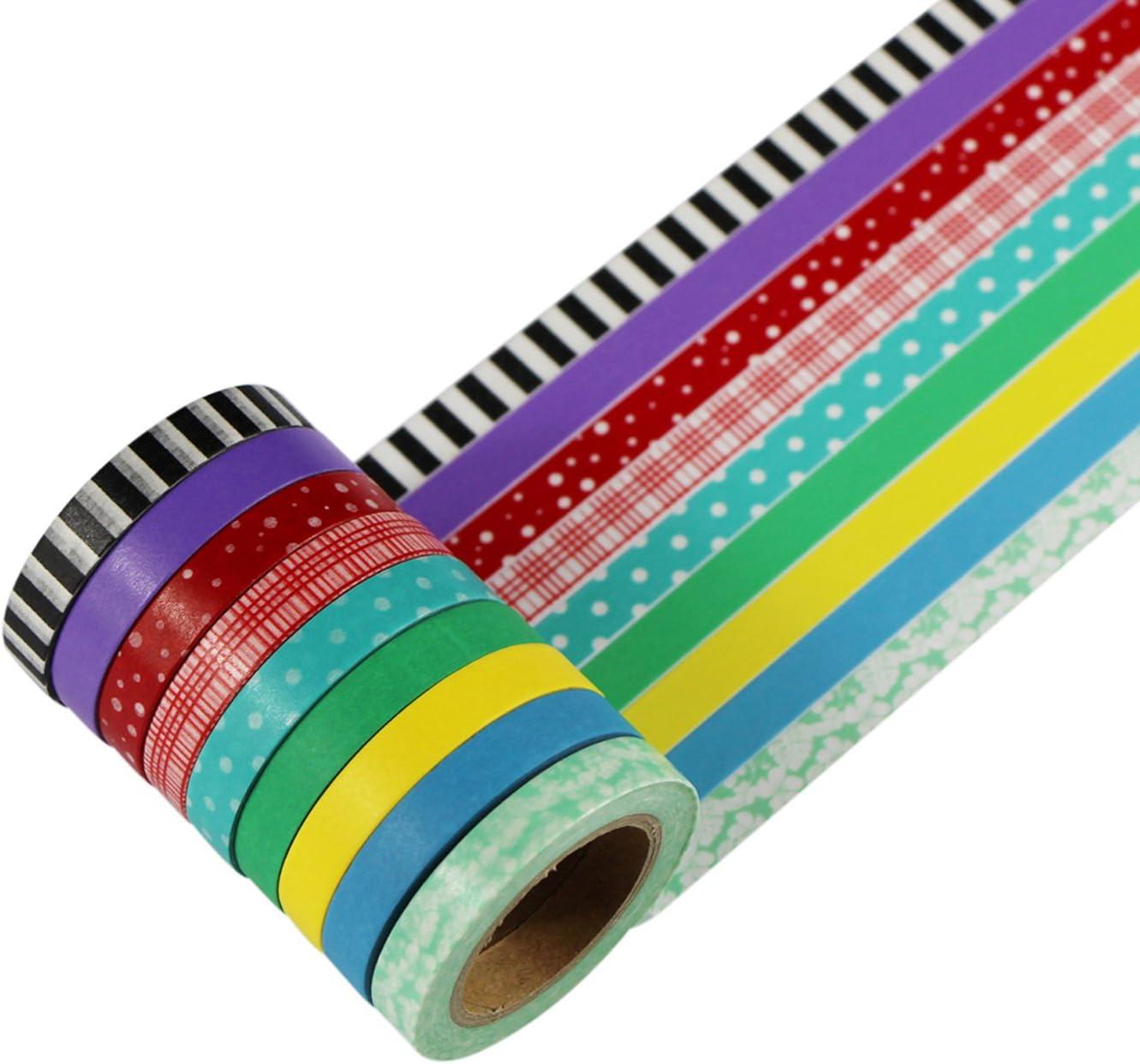 UOOOM 9 Ruban adh/ésif Washi Tape Ruban adh/ésif de masquage d/écoratif scrapbooking cadeau DIY Craft