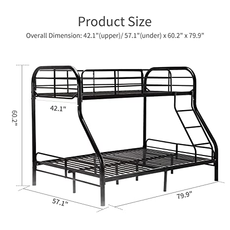 Fantastic Black Metal Twin Over Full Bunk Beds Ladder Kids Teens Adult Dorm Bedroom Furniture Gift For Your Kid Save Bedroom Space Creativecarmelina Interior Chair Design Creativecarmelinacom