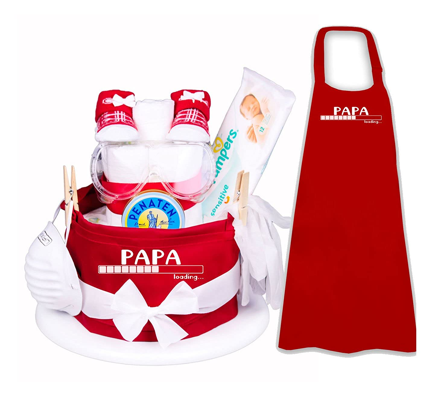 das Geschenk f/ür den werdenden//frischgebackenen Papa Trend Mama Windeltorte Papa Loading