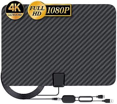 Ecosway HDTV Digital Antena, 4K 1080P 120Mile Alcance TV Antenas Digital Señal Amplificador, Alcance Fibra de Carbono Amplificador de Señal Amplificador: Amazon.es: Electrónica