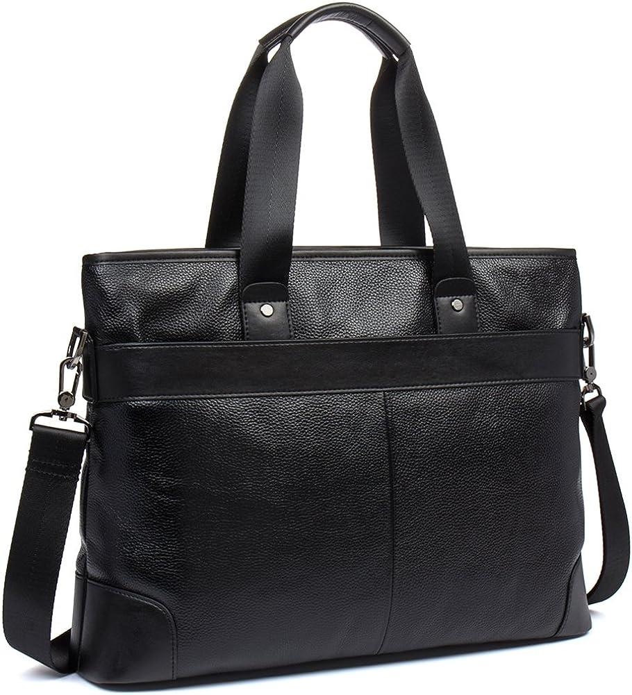 WESTBRONCO Leather Briefcases Laptop Handbags 16.9 Shoulder Messenger Business Bag for Men