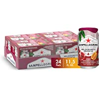 Sanpellegrino Italian Sparkling Drink, Pomegranate and Orange, 11.15 fl oz. Cans (Pack of 24)