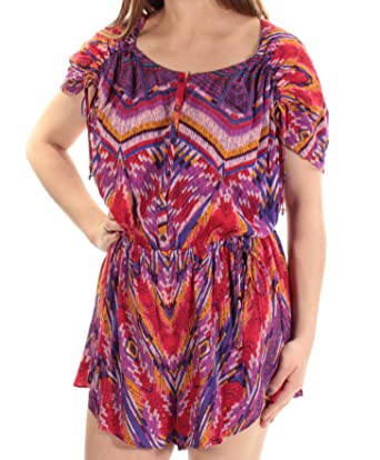 52008cd3575c Amazon.com  Free People Womens Dream All Night Printed Romper Jumpsuit   Clothing
