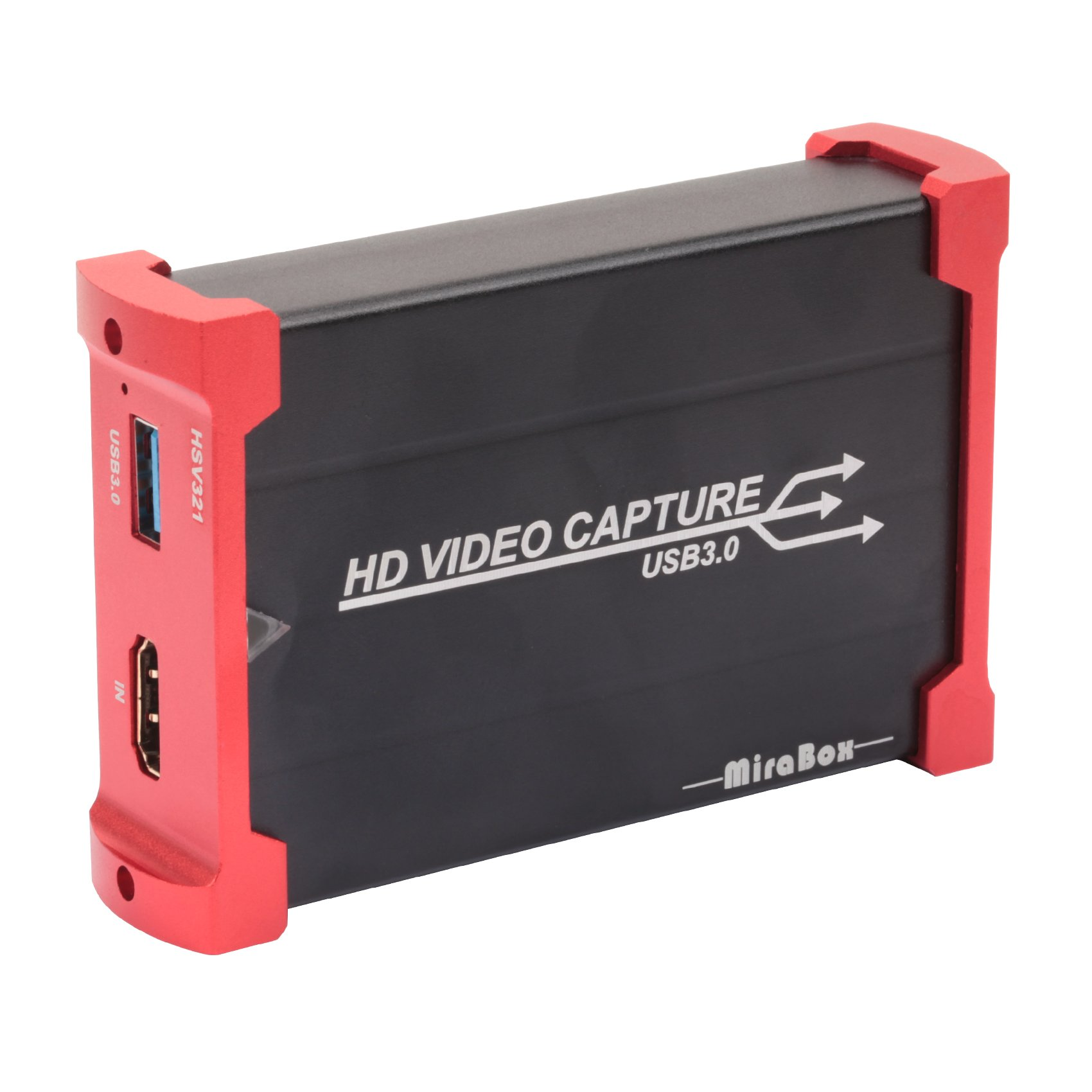 MiraBox Capture Card,USB 3.0 HDMI Game Capture Card Device With HDMI Loop-out Support HD Video HDCP 1080P Windows 7 8 10 Linux Youtube OBS Twitch for PS3 PS4 Xbox Wii U Streaming and Recording, HSV321 by Mirabox