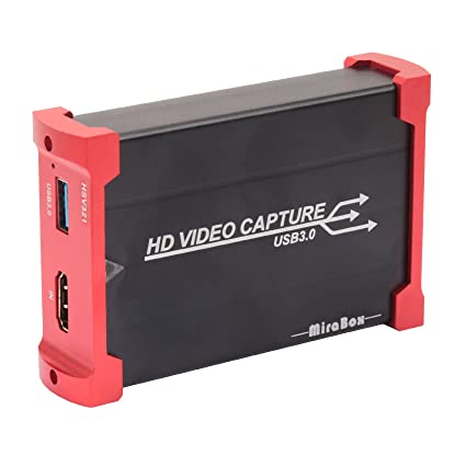 MiraBox Capture Card,USB 3 0 HDMI Game Capture Card Device With HDMI  Loop-out Support HD Video HDCP 1080P Windows 7 8 10 Linux Youtube OBS  Twitch for