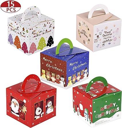 15 Pezzi Scatole Regalo di Natale Confezioni per Caramelle di