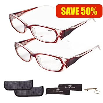 703adb5255d Reading Glasses for Women Absolutely the BEST VALUE! 6 Crystal Clear  Magnifying Powers in 3