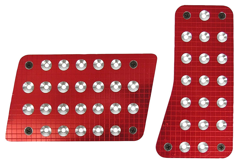 Custom Accessories 16004 Red Billet Auto Pedal Pad