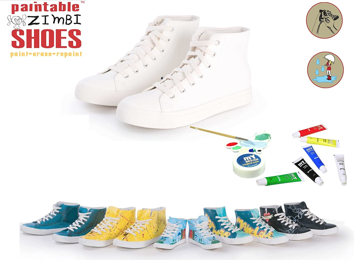 scarpe per My sneakers on DIY donne kit Inc Design New Paint le q7Y84q